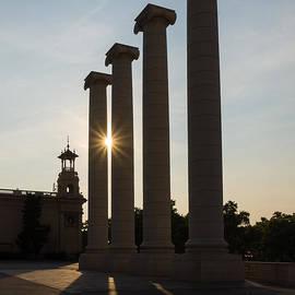 Georgia Mizuleva - Hot Barcelona Afternoon - Magnificent Columns and Brilliant Sun Flares