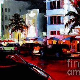 Michael Swanson - Hot Nights in South Beach - Oil