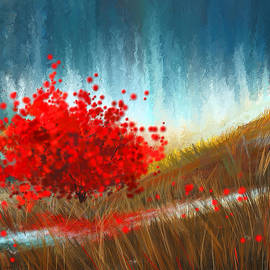 Lourry Legarde - Hours Of Autumn- Turquoise And Red