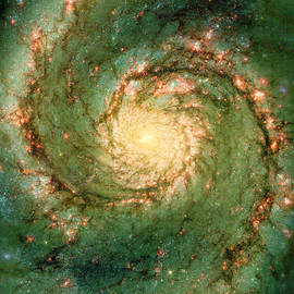 Hubble - The Heart Of The Whirlpool Galaxy by Paulette B Wright