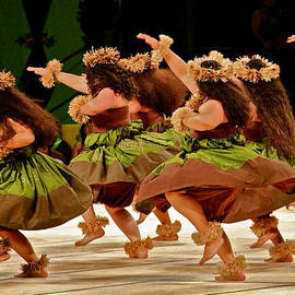 Hula Dancers at the Merrie Monarch Festival by Venetia Featherstone-Witty