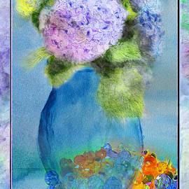 Hydrangea Still life  Digital Paint by Debbie Portwood