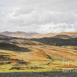 Icelandic landscape with craters and steam  by Patricia Hofmeester