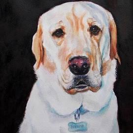Labrador Retriever Portrait - Seriously? by Carolyn Gray