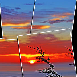 Jim Fitzpatrick - Images of a Sunset from on Top of Pacifica
