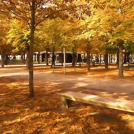 Impressions of Paris - Tuileries Garden - Come Sit a Spell by Georgia Mizuleva