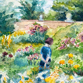 Wendy Le Ber - In an English Cottage Garden