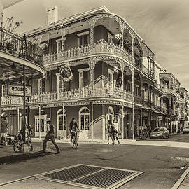 In the French Quarter sepia by Steve Harrington