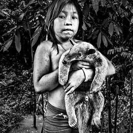 Girl with Oso Dormilon by Maria Coulson