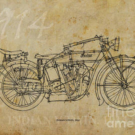 INDIAN V-TWIN 1914 by Pablo Franchi
