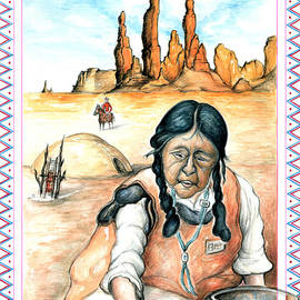 Art America Gallery Peter Potter - Indian Woman - Native American Art