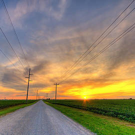 Indiana sunset by Alexey Stiop