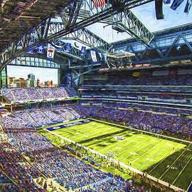David Haskett - Indianapolis Colts Lucas Oil Stadium Painted Digitally