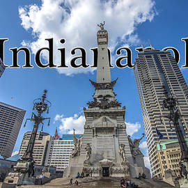 Indianapolis Indiana Monument Circle Name by David Haskett II