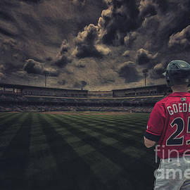 Indianapolis Indians Jared Goedert 2 by David Haskett II