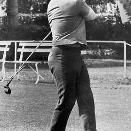 Ingemar Johansson Golfing by Underwood Archives