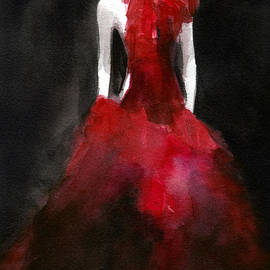 Inspired By Alexander Mcqueen Fashion Illustration Art Print by Beverly Brown