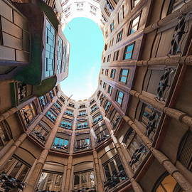 Interior Fish Eye View Of La Pedrera by James Emmerson / Robertharding