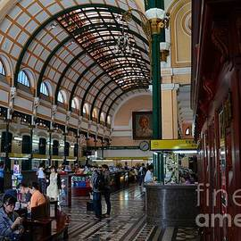 Interior hall of historic Saigon Central Post Office building Vietnam by Imran Ahmed