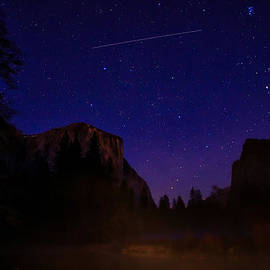 International Space Station Over Yosemite National Park by Scott McGuire
