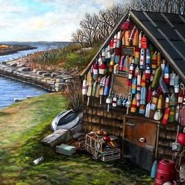 Ipswich Bay Wooden Buoys by Eileen Patten Oliver