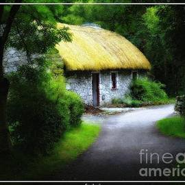 Robert Santuci - Irelands Folk Park Cottage Oil Painting Effect