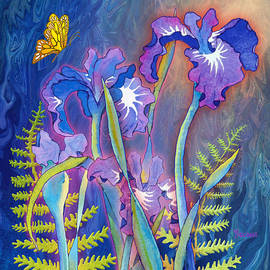 Iris Bouquet in Square by Teresa Ascone