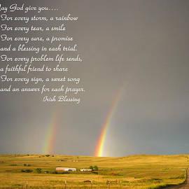 Joyce Dickens - Irish Blessing Double Rainbow 07 11 14