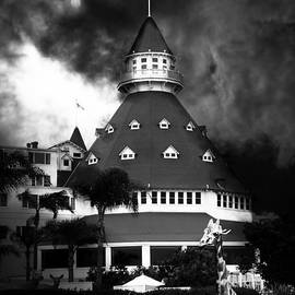 Wingsdomain Art and Photography - It Happened One Night At The Old Del Coronado Hotel 5D24270 black and white
