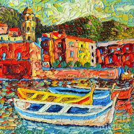 Italy - Cinque Terre - Boats In Vernazza - 2 by Ana Maria Edulescu