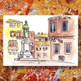 Irina Sztukowski - Italy Sketches Venice Piazza