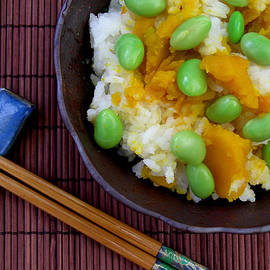 Japanese Kabocha Squash Rice with Edamame by James Temple