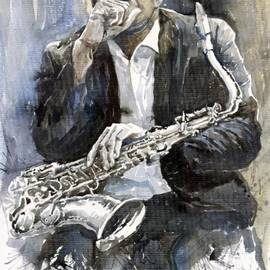 Jazz Saxophonist John Coltrane Yellow by Yuriy Shevchuk