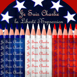 Je Suis Charlie Freedom Of Speech by Michele Avanti