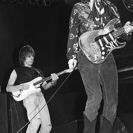 Concert Photos - Guitarists Jeff Beck and Stevie Ray Vaughan