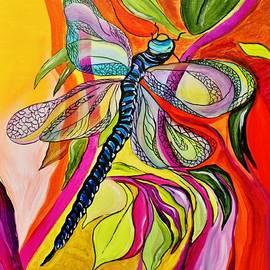Jenny's Dragonfly in Acrylic by Janice Pariza