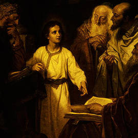 Jesus At Temple by Heinrich Hofmann