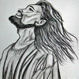 Jesus Christ In Graphite by Janice Pariza