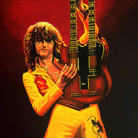 Paul Meijering - Jimmy Page Painting