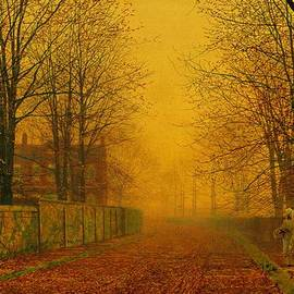 John Atkinson Grimshaw Evening Glow 1884 by Movie Poster Prints