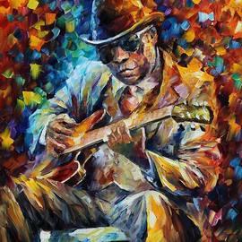 Leonid Afremov - John Lee Hooker - Palette Knife Oil Painting On Canvas By Leonid Afremov