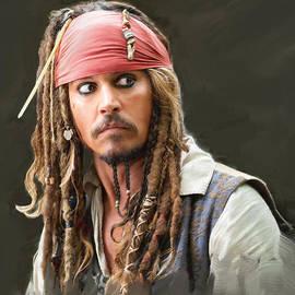 Johnny Depp as captain Jacques Sparrow by Dominique Amendola