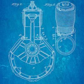 Ian Monk - Jones Hendee Mfg Co Rotary Engine Patent Art 1915 Blueprint