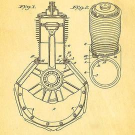 Ian Monk - Jones Hendee Mfg Co Rotary Engine Patent Art 1915