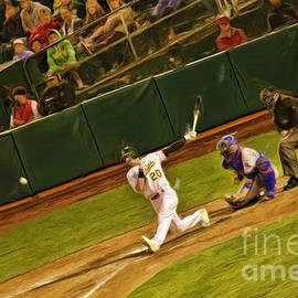 Oakland Athletics Josh Donaldson Smacks It by Blake Richards