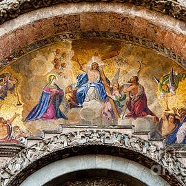 Judgement Day Mosaic At St Marks In Venice by Paul Cowan