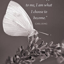 Jung Quotation And Butterfly by Chris Scroggins