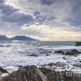 Kaikoura New Zealand in Stormy Weather by Colin and Linda McKie