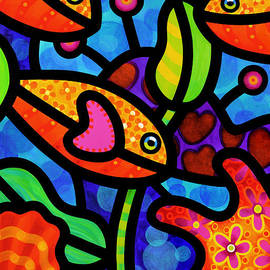colorful abstract animals - Colorful Art