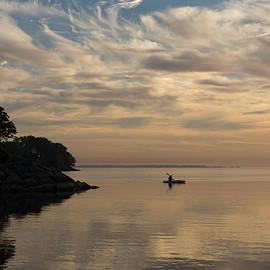 Kayaking Through Soft Pink Gold by Georgia Mizuleva